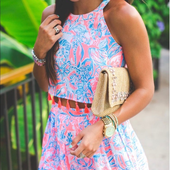 Lilly Pulitzer Dresses & Skirts - Lilly Pulitzer Selina Halter Top and Skirt Set